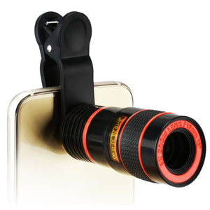 Mobile Phone Camera Telescope Lens With Clip For iPhone/Phone lens DSLR Universal Product Can Provide HD 8x Optical Zoom