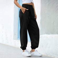 Load image into Gallery viewer, Loose Joggers Wide Leg SweatPants Women Trousers Plus Size Soft High Waist Pants Streetwear Korean Casual Yoga Pant Femme