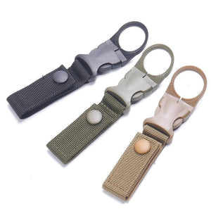 Carabiners Tactical Gear Water Bottle Holder Belt Clip Military Nylon Webbing Buckle Hook Outdoor Camping Equipment EDC Tools