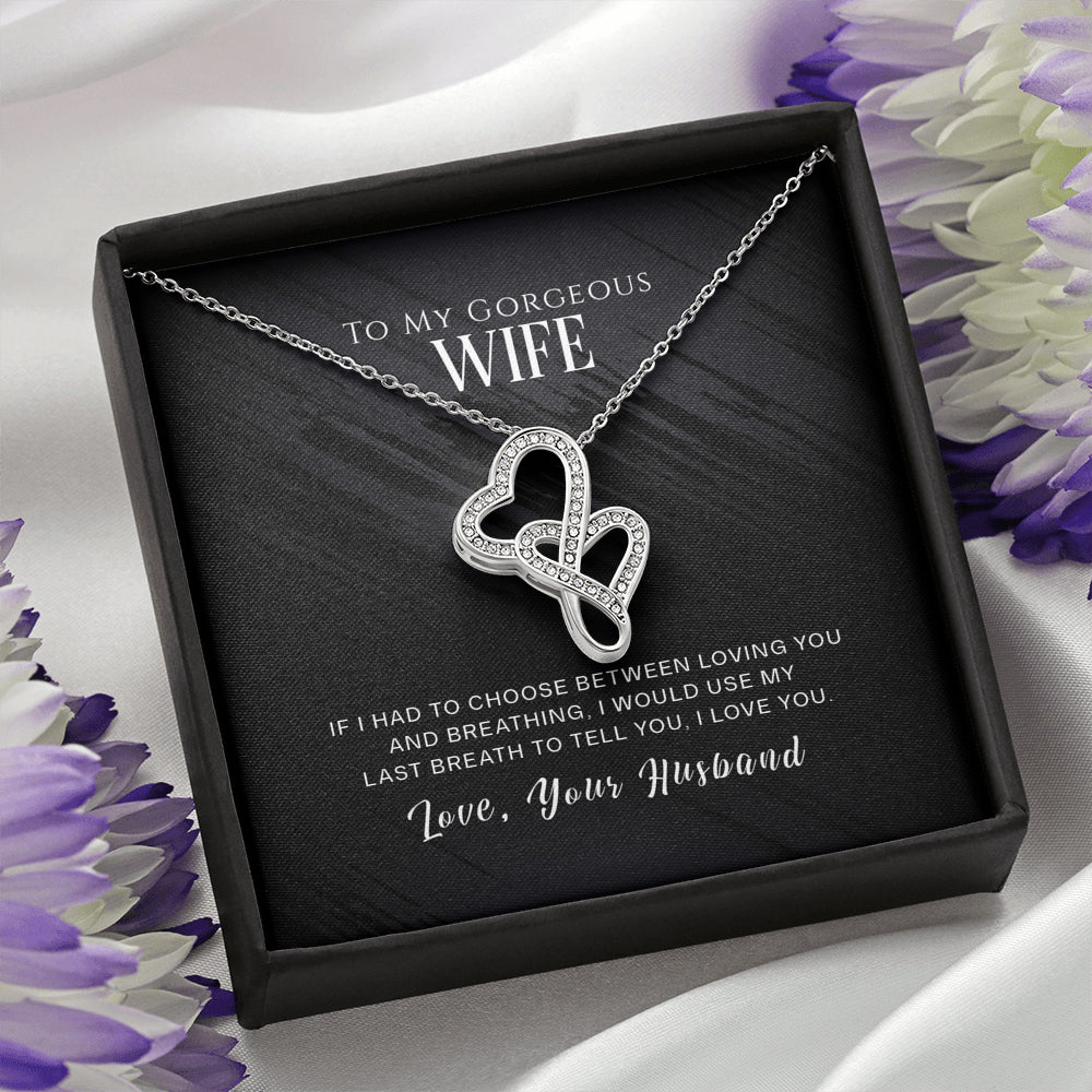 "Wife ""Double Heart"" Necklace (art 26)"