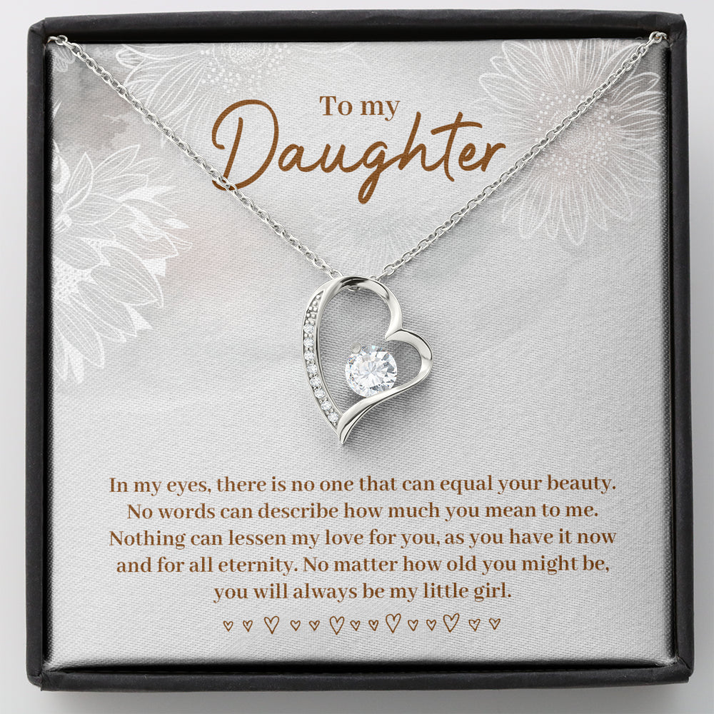 "Daughter gift ""Forever LOVE"" Heart Necklace (card #37)"