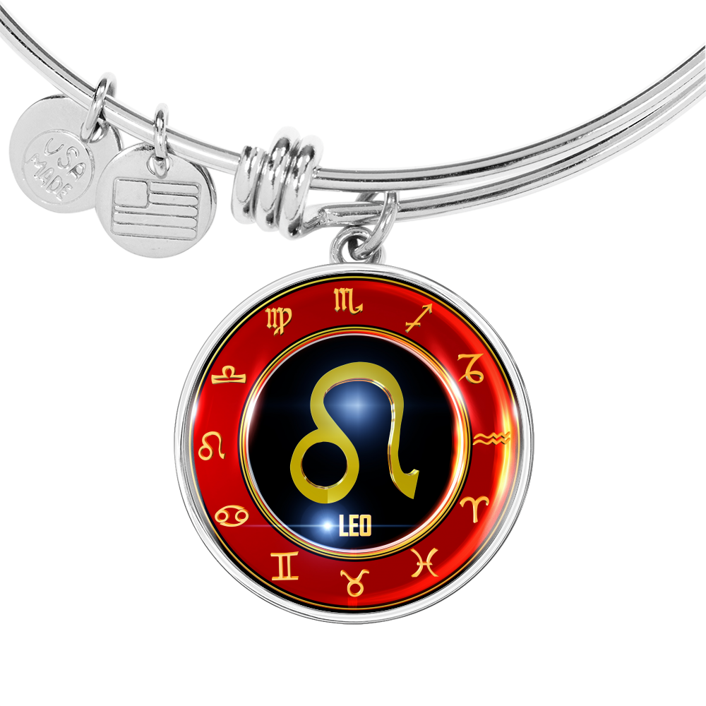 Zodiac LEO Circle - Adjustable Luxury Bangle (style 1)