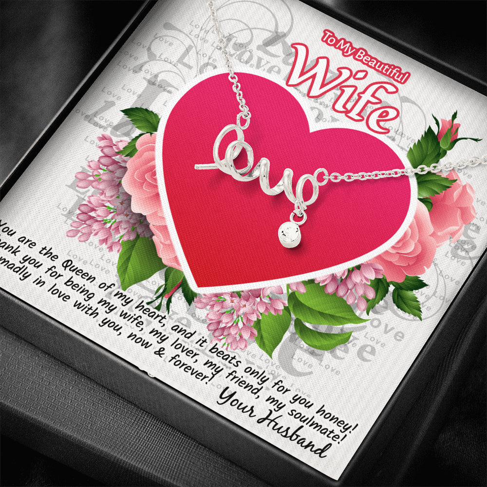 "Scripted ""LOVE"" Necklace"