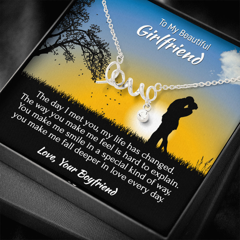 "Girlfriend ""Scripted LOVE"" Necklace (style 4)"