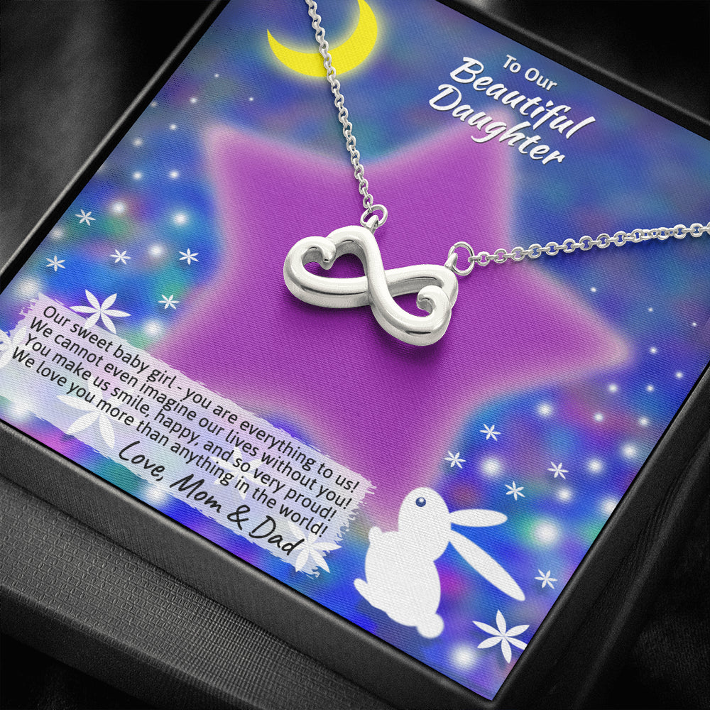 "Young Daughter ""Infinity Hearts"" Necklace (art 20)"