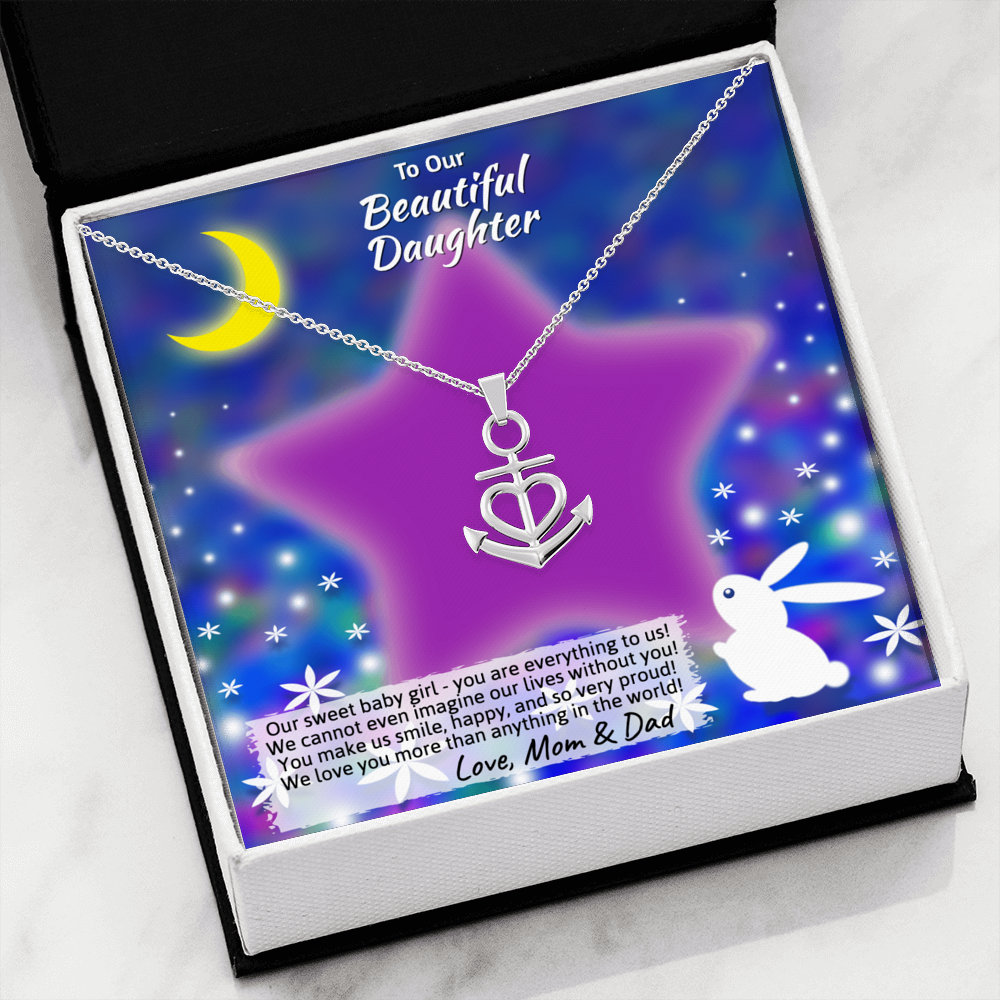 "Young Daughter ""Friendship Anchor"" Necklace (style 20)"