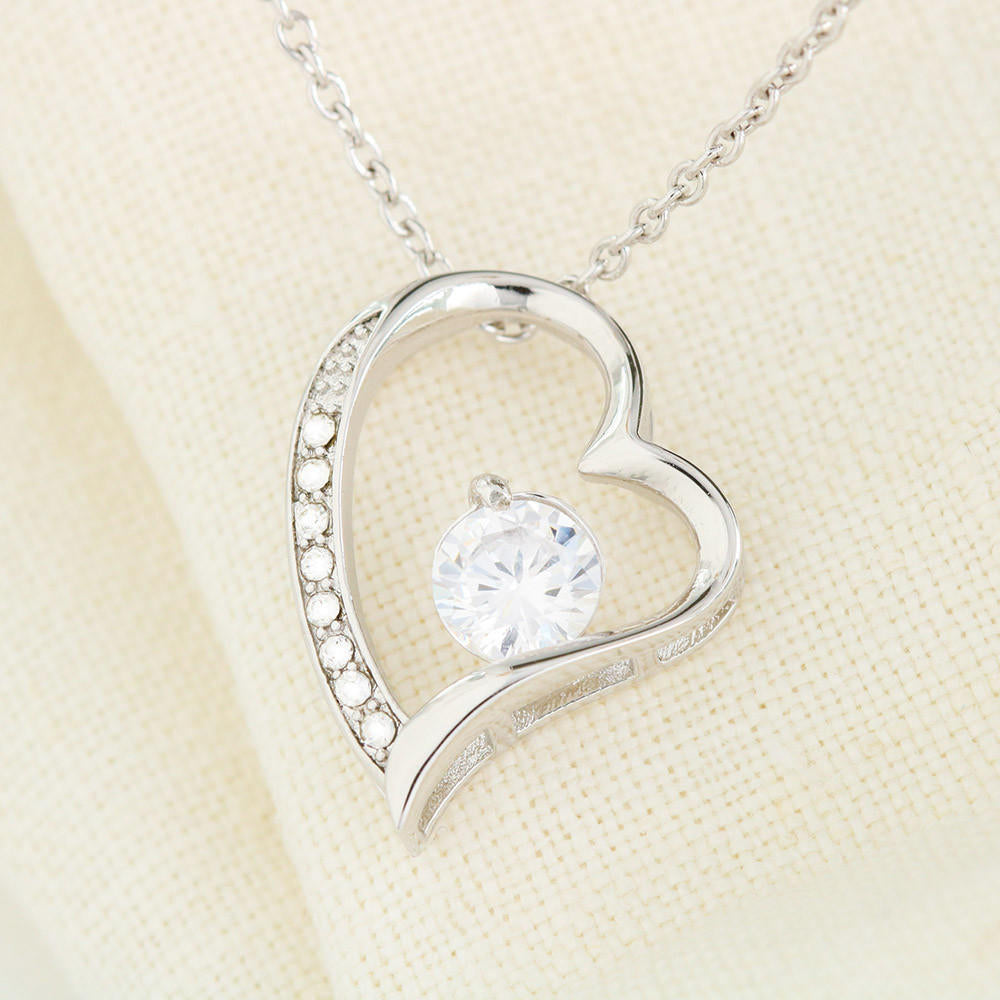 "Girlfriend PERSONALIZED ""Forever LOVE"" Necklace (art 1)"