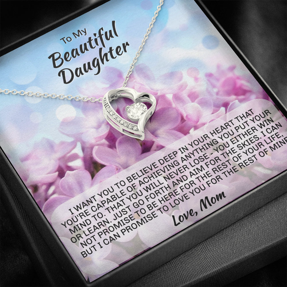"Mom to Daughter ""Forever LOVE"" Necklace (art 1)"