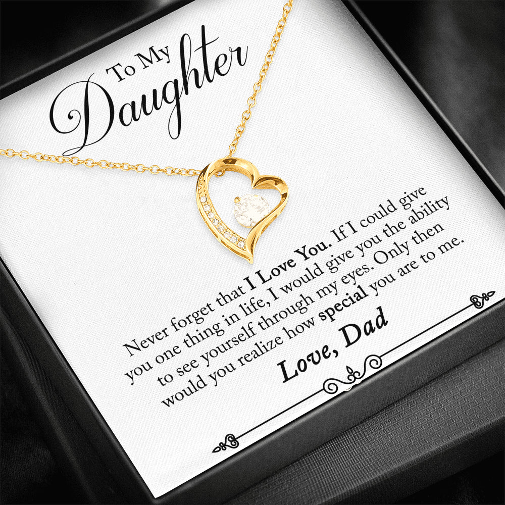 "Daughter ""Forever LOVE"" Necklace (art 25)"