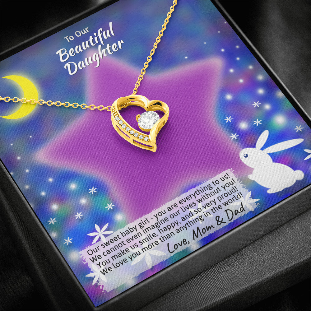"Young Daughter ""Forever LOVE"" Necklace (art 20)"