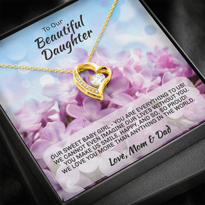 "Parents To Daughter ""Forever LOVE"" Necklace (art 1)"