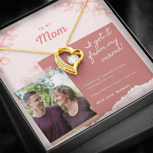"Mother's Day PERSONALIZED gift ""Forever LOVE"" Necklace (art 32)"