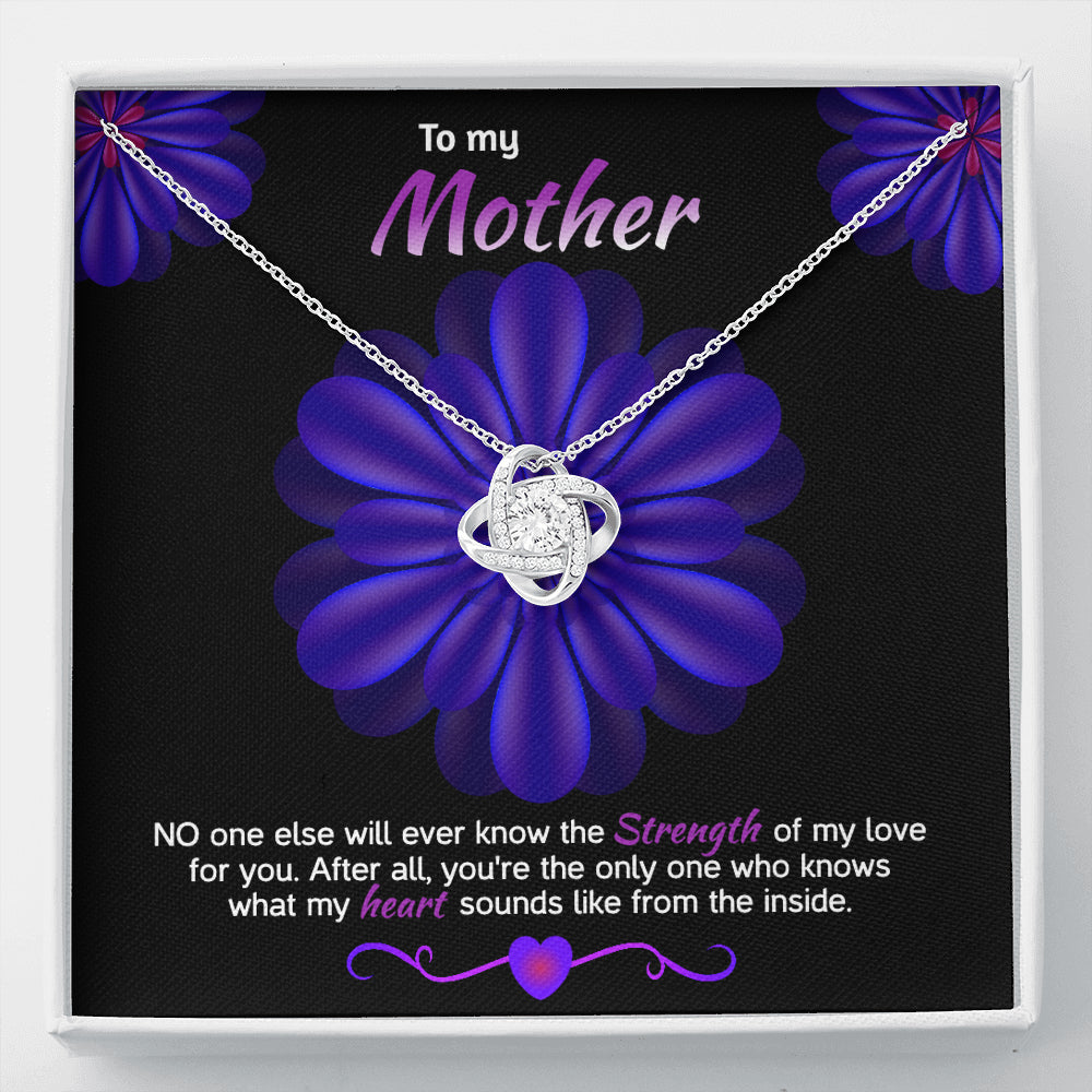 "Mother gift ""Love Knot"" Necklace (style 38)"