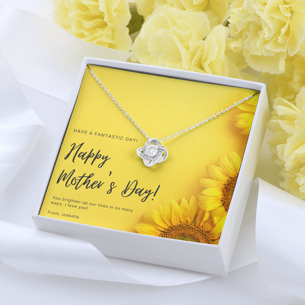 "Mother's Day gift ""Love Knot"" Necklace (art 30)"
