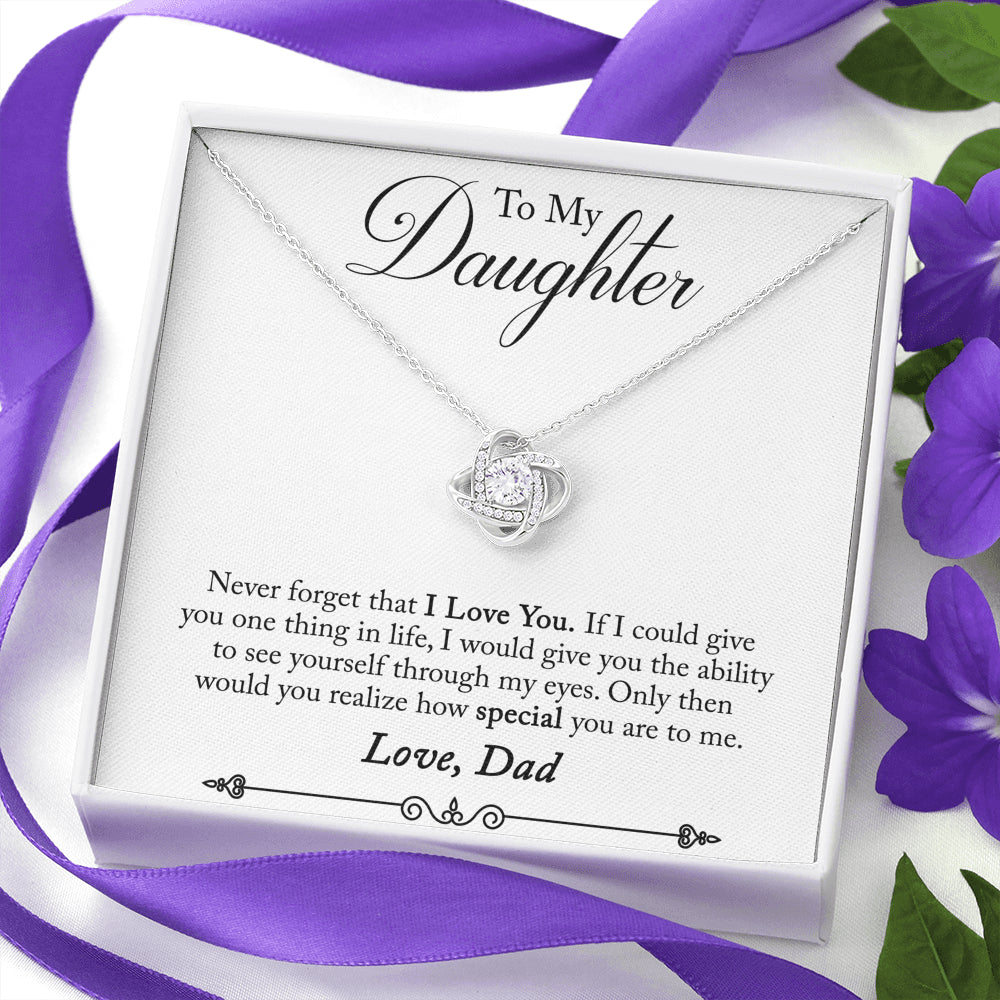 "Dad to Daughter ""Love Knot"" Necklace (style 25)"