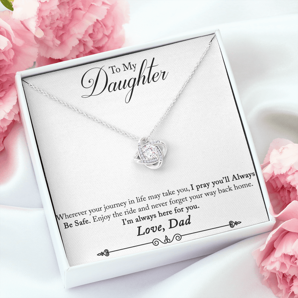"Dad to Daughter ""Love Knot"" Necklace (style 6)"
