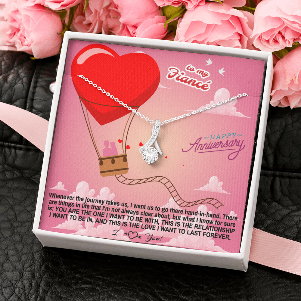 "Fiance Happy Anniversary gift ""Alluring Beauty"" Necklace (card #36)"