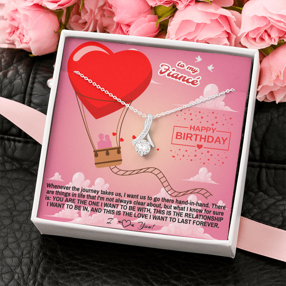 "Fiance Happy Birthday gift ""Alluring Beauty"" Necklace (card #36)"