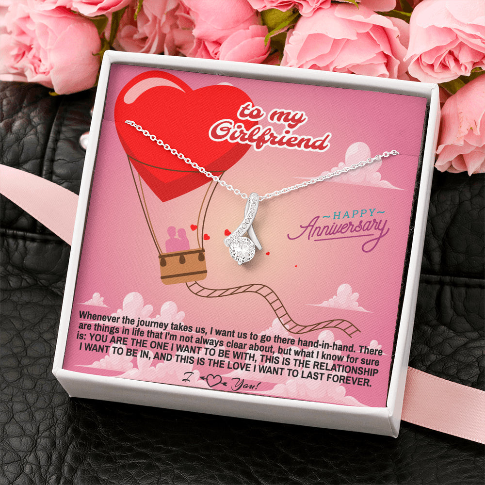 "Girlfriend Happy Anniversary gift ""Alluring Beauty"" Necklace (card #36)"