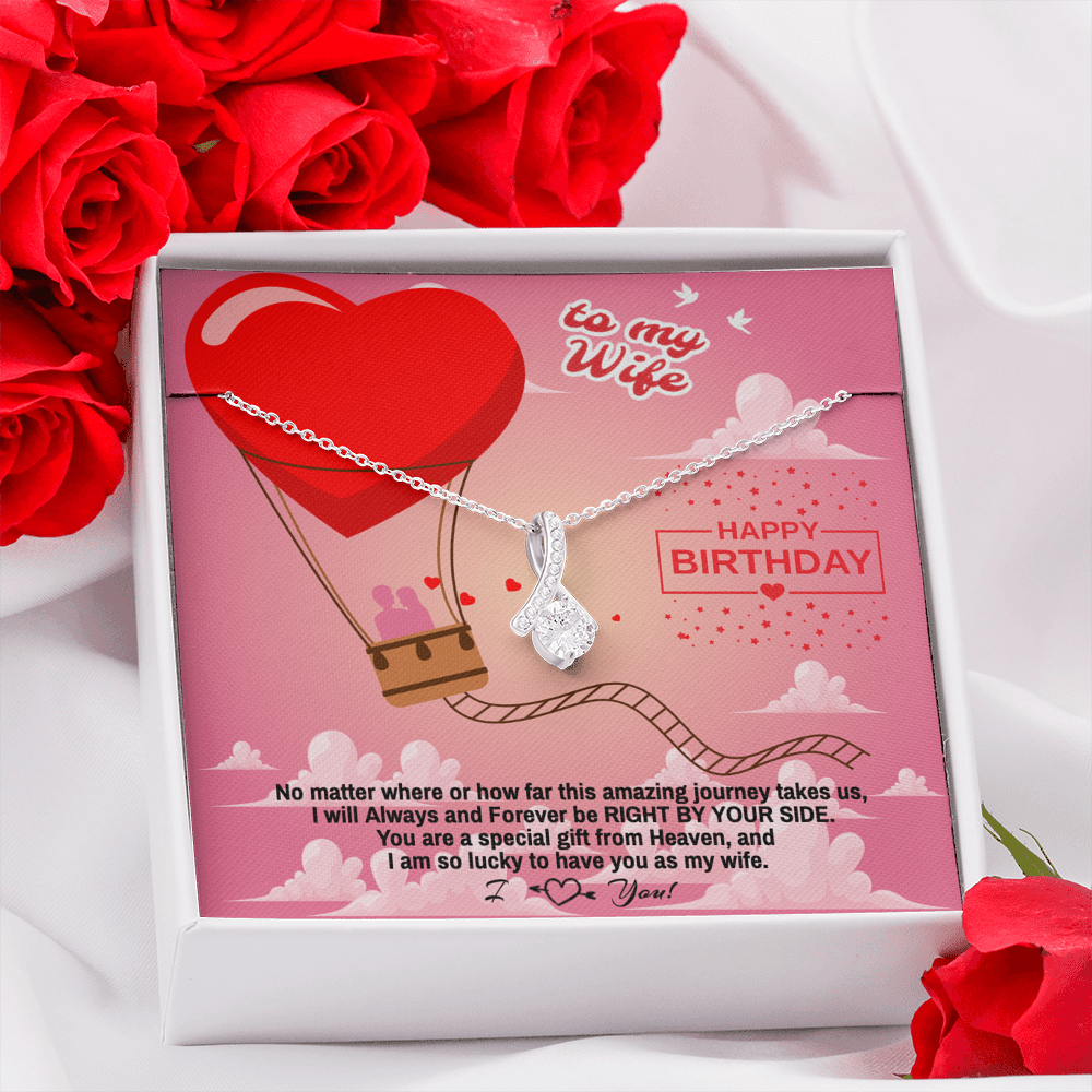 "Wife Happy Birthday gift ""Alluring Beauty"" Necklace (card #36)"