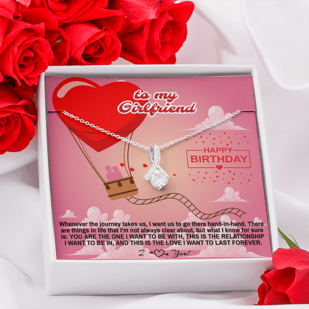 "Girlfriend Happy Birthday gift ""Alluring Beauty"" Necklace (card #36)"