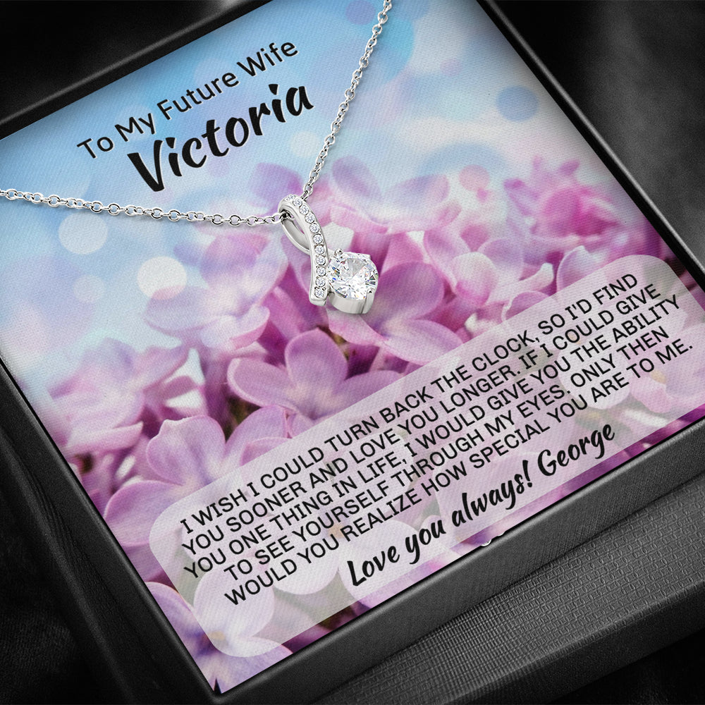 "Future Wife PERSONALIZED ""Alluring Beauty"" Necklace (art 1)"