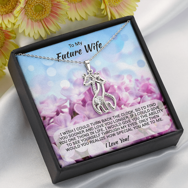 "Future Wife gift ""Graceful Love Giraffe"" Necklace (style 1)"