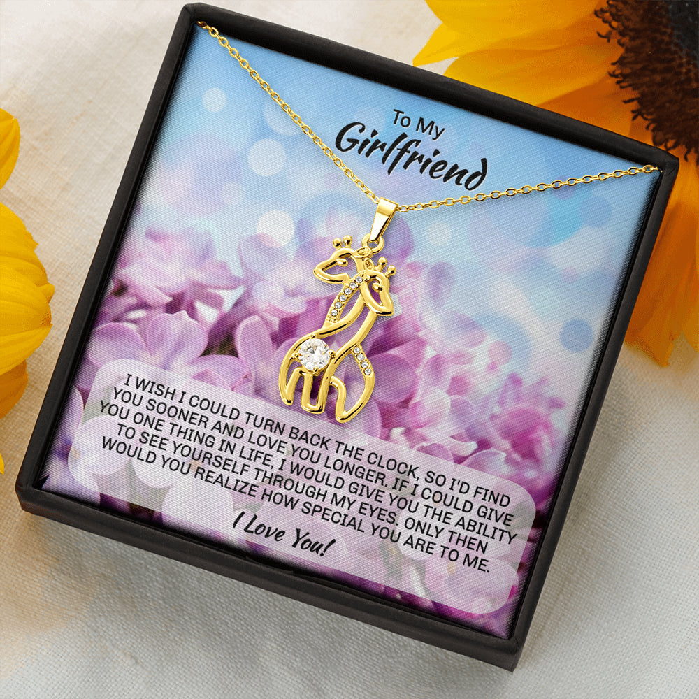 "Girlfriend gift ""Graceful Love Giraffe"" Necklace (style 1)"