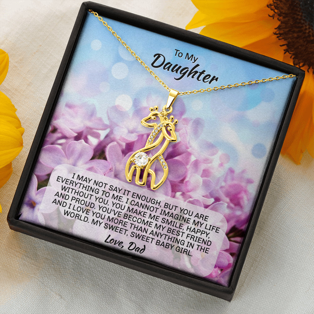 "Daughter ""Graceful Love Giraffe"" Necklace (art 1)"