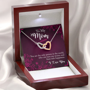 "Mother ""Interlocking Hearts"" Necklace (art 14)"