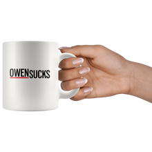 "Load image into Gallery viewer, Grey's Anatomy ""Owen Sucks"" Mug"