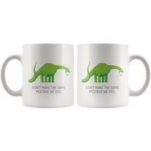 "Load image into Gallery viewer, Dino Says ""Wear A Mask"" Mug"