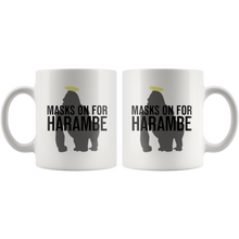 Load image into Gallery viewer, Masks On For Harambe Mug