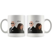 "Load image into Gallery viewer, ""Phew"" Joe Biden & Kamala Harris Inauguration Mug"