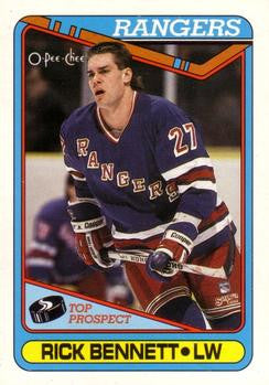 Rick Bennett Trading Card With New York Rangers from tradingcarddb.com
