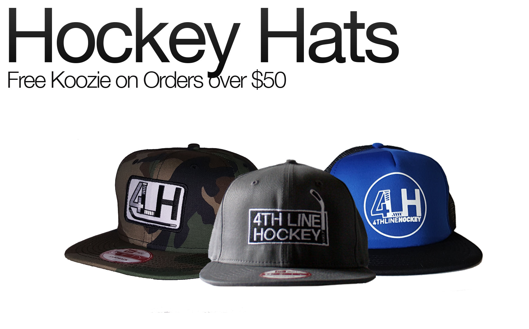 Hockey Hats - Free Koozie on Orders over $50