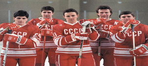 Soviet Union Hockey Team Coached by Anatoli Tarasov