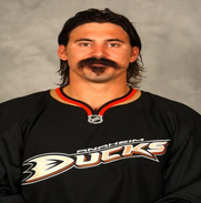 George Parros of the Anaheim Ducks
