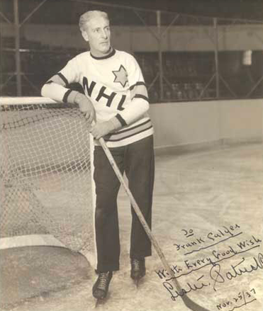 Lester Patrick posing on the ice