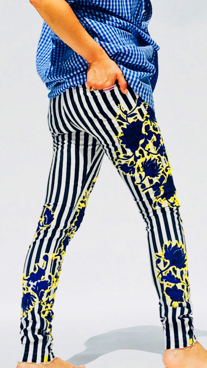Beetlejuice Striped Jeans