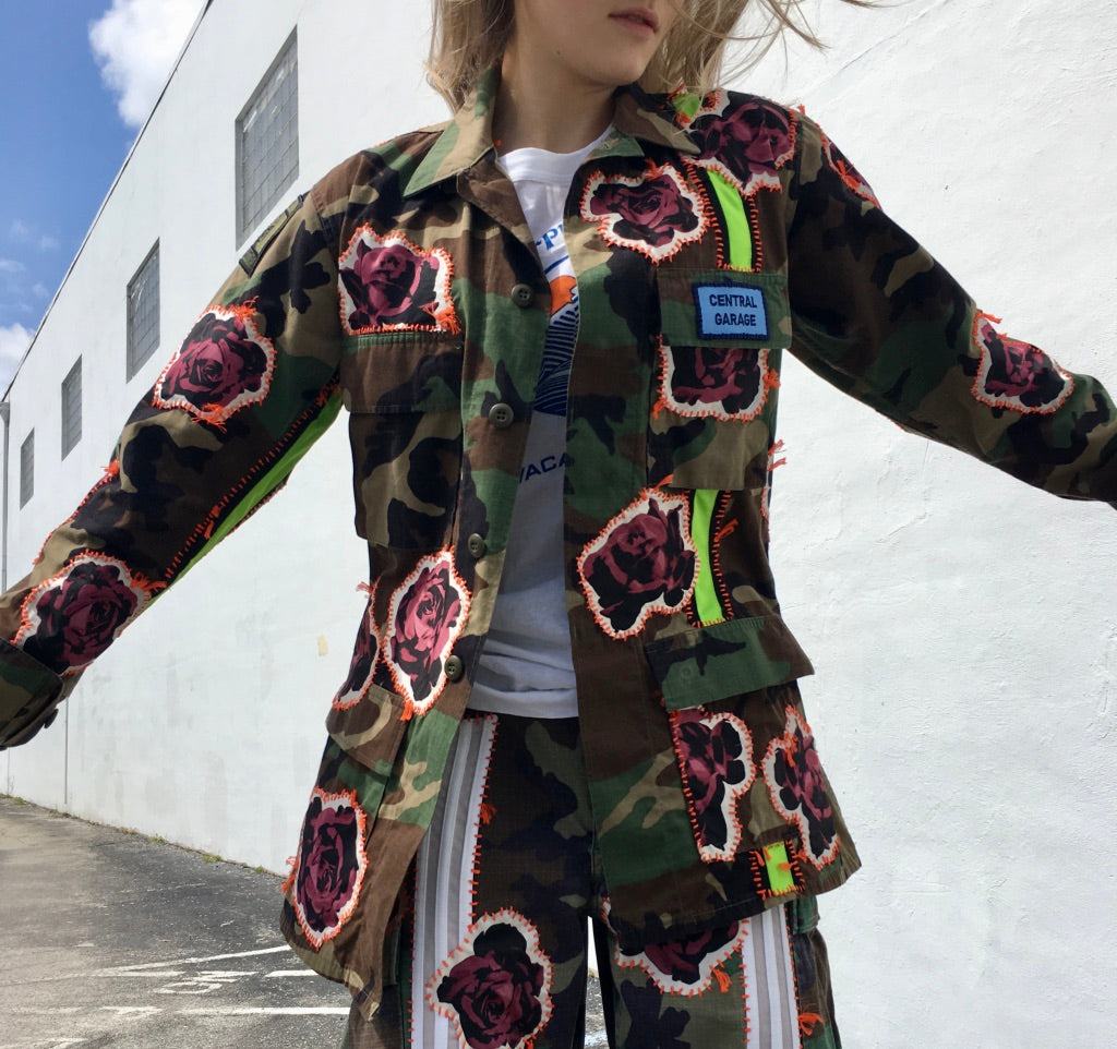 Bunch of Roses Camo Jacket