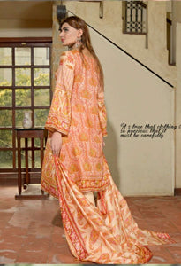 Three star Printed lawn 3 piece