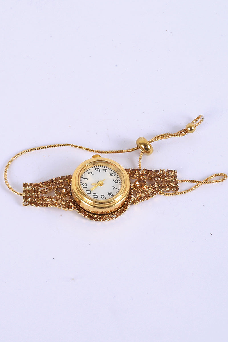 Flower Charm Watch Bracelet