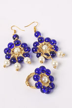 Load image into Gallery viewer, Blue Pearl Earrings & Ring