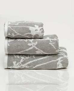 Grey Jacquard Pack of 3 Towels