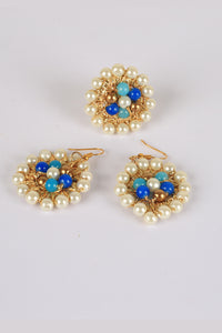 Multicolored Earings and Ring