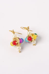 Multi Color Pearl Earrings