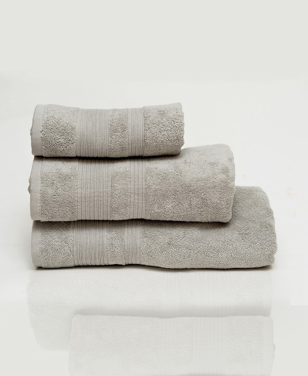 Plain Gray Pack of 3 Towels