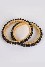 Load image into Gallery viewer, Black Pearl Bangles