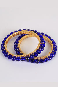 Blue Pearls Bangles